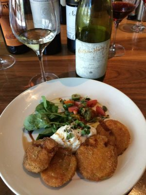 William Hardy Chardonnay paired with Fried Green Tomato Salad