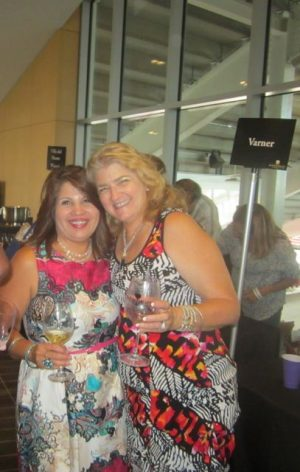 Bertha Venezuela and Vicki Seelig Enjoy Varner Chardonnay
