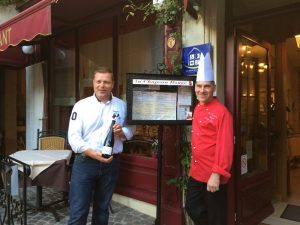 Winemaker Rodolphe Raffault & Chef Christophe Duguin at Au Chapeau Rouge Restaurant Chinon, France