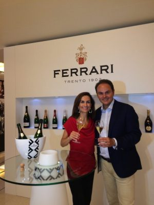Wine Oh TV's Monique Soltani & Matteo Lunelli at Ferrari Winery in Trento, Italy