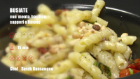 Sicilian Pasta with Sun-Dried Tomatoes & Capers (RECIPE VIDEO)